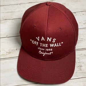 Vans Off the Wall maroon baseball hat
